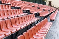 Asiento marrón brillante del estadio Fotografía de archivo