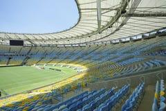 Asiento y echada del estadio de fútbol de Maracana Foto de archivo