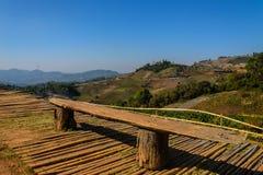 Asiento y punto de vista de bambú Imagen de archivo