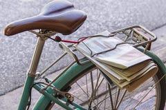 Asiento y rueda de bicicleta Foto de archivo libre de regalías