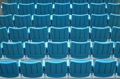 Asientos azules Imagen de archivo libre de regalías