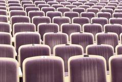 Asientos cómodos en teatro Imágenes de archivo libres de regalías