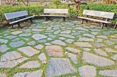 Asientos de jardín Imágenes de archivo libres de regalías