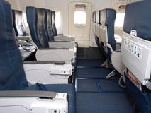 Asientos de línea aérea Imágenes de archivo libres de regalías