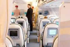 Asientos de la clase de negocios en aeroplano Fotos de archivo
