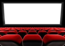 Asientos de la pantalla del cine o del teatro Fotografía de archivo libre de regalías