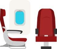 Asientos de los aviones ilustración del vector