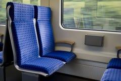 Asientos de los trenes Foto de archivo libre de regalías