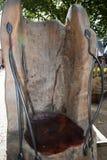 Asientos de madera rústicos Imagen de archivo