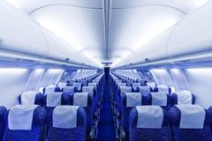 Asientos del aeroplano Imagen de archivo