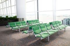Asientos del aeropuerto Imagen de archivo libre de regalías