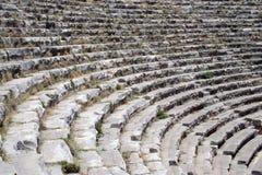 Asientos del Amphitheatre fotografía de archivo