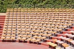 Asientos del anfiteatro Fotografía de archivo libre de regalías