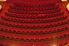 Asientos del cine/del teatro Foto de archivo
