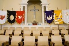 Asientos del coro de la iglesia foto de archivo libre de regalías