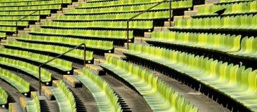 Asientos del estadio Foto de archivo libre de regalías