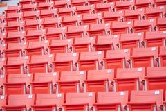Asientos del estadio Fotografía de archivo libre de regalías