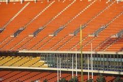 Asientos del estadio de Major League foto de archivo libre de regalías