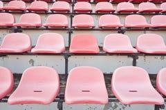 Asientos del estadio en el soporte Imagen de archivo libre de regalías