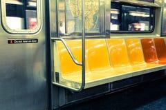 Asientos del subterráneo de NYC Fotografía de archivo libre de regalías