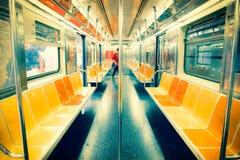 Asientos del subterráneo de NYC Foto de archivo
