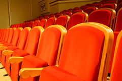 Asientos del teatro Foto de archivo