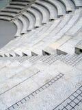 Asientos del teatro con las escaleras Fotografía de archivo