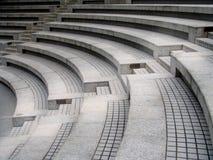 Asientos del teatro con las escaleras Imagen de archivo libre de regalías
