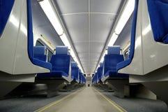 Asientos del tren Foto de archivo libre de regalías