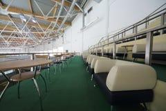 Asientos del VIP para los espectadores en el complejo Krylatsky de los deportes Foto de archivo libre de regalías