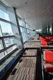 Asientos en aeropuerto Imágenes de archivo libres de regalías