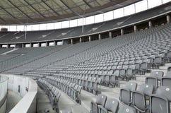 Asientos en Berlin Olympiastadion Imágenes de archivo libres de regalías