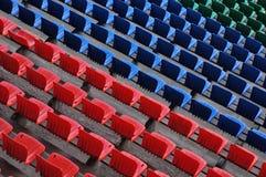 Asientos en el estadio Imagenes de archivo