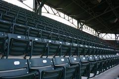 Asientos en el estadio de béisbol Imágenes de archivo libres de regalías
