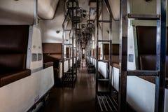 Asientos en trenes Fotos de archivo libres de regalías
