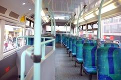 Asientos en un autobús de Londres Imágenes de archivo libres de regalías