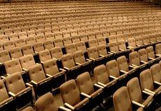 Asientos en un teatro Foto de archivo libre de regalías
