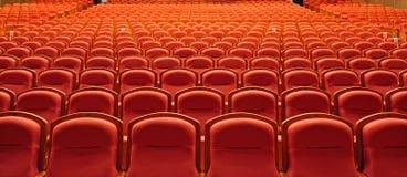 Asientos libres del teatro Imagen de archivo