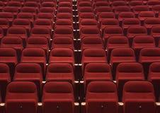 Asientos rojos foto de archivo libre de regalías