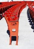 Asientos rojos Imagen de archivo libre de regalías
