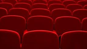 Asientos rojos en un teatro y una ópera vacíos metrajes