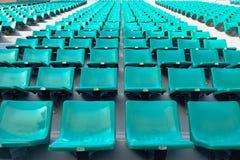 Asientos verdes en estadio del nacional de Supachalasai Imagen de archivo libre de regalías