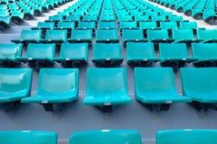 Asientos verdes en estadio del nacional de Supachalasai Foto de archivo libre de regalías