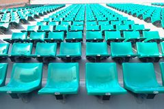 Asientos verdes en estadio del nacional de Supachalasai Fotografía de archivo