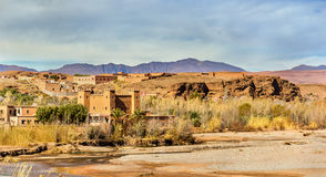 The Asif M`Goun river forming the Valley of Roses at Kalaat M`Gouna, Morocco Stock Photo