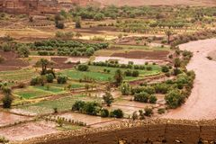 Asif-ounila Fluss und Tal Ait Ben Haddou marokko Lizenzfreie Stockfotos