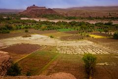 Asif ounila valley. Kasbah Ait Ben Haddou. Morocco. Royalty Free Stock Photos