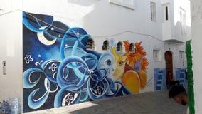 Asila street art stock image