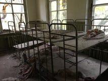 Asilo abbandonato di Kopachi Fotografie Stock Libere da Diritti