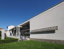 Asilo St Elia幼儿园在科莫 免版税库存图片